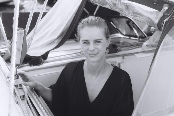 Giulia in barca